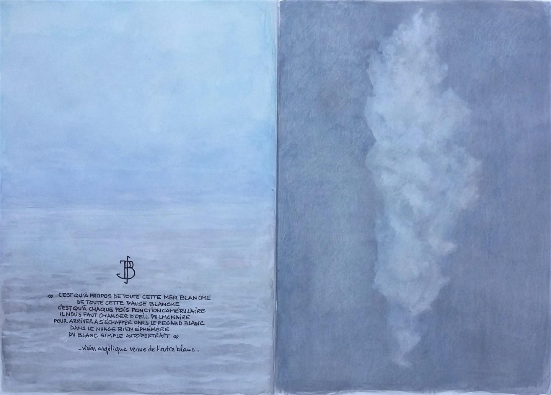 """Philippe Brobeck - """" Vision angelique venue de l'outre-blanc """""""