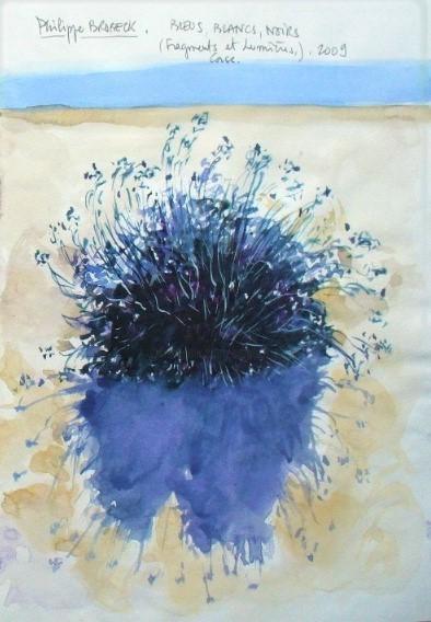 "Philippe Brobeck - "" Bleu blanc noir,la plante """