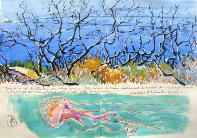 Philippe Brobeck - la méduse et les branches noires