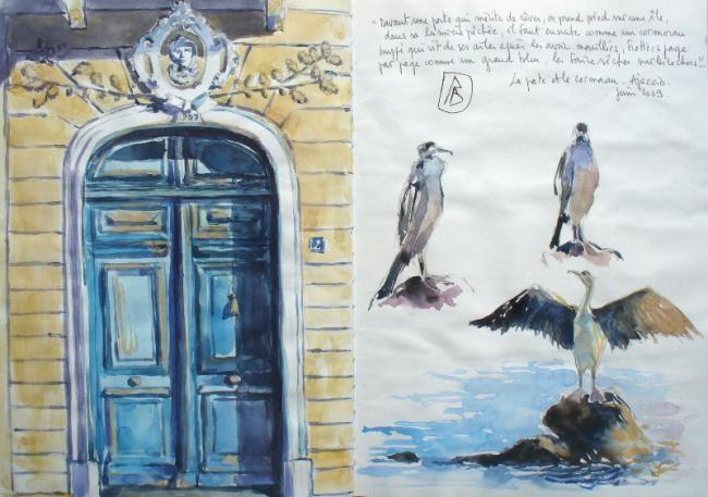 Philippe Brobeck - Ajaccio la porte et le cormoran