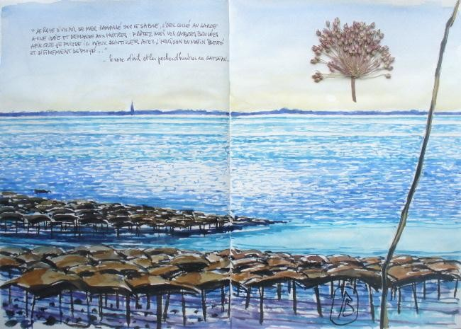 """Philippe Brobeck - """" Le rose d'ail et les poches d'huitres du Gatseau"""""""
