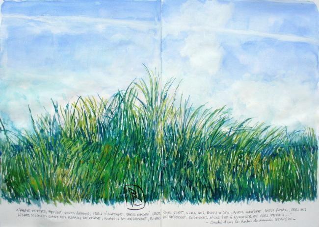"""Philippe Brobeck - """"Couché dans les herbes de dune..."""""""