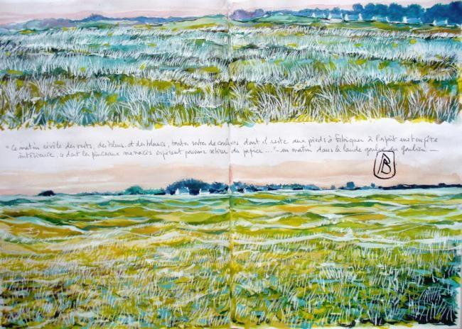 """Philippe Brobeck - """" Ce matin révèle des bleus des verts et des blancs..."""""""