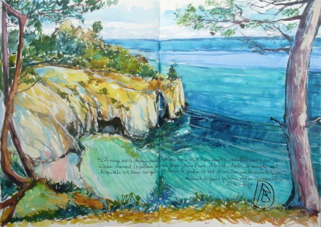 """Philippe Brobeck - """"L'île vierge sur le chemin..."""""""
