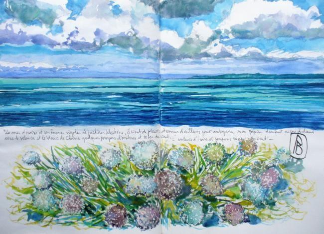 """Philippe Brobeck - """"La mer d'Iroise et ses formes rigoles..."""""""