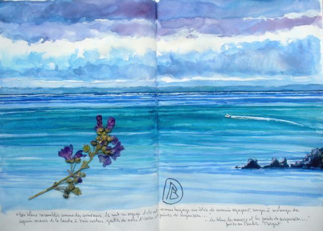 """Philippe Brobeck - """"Les bleus rassemblés comme des cormorans..."""""""