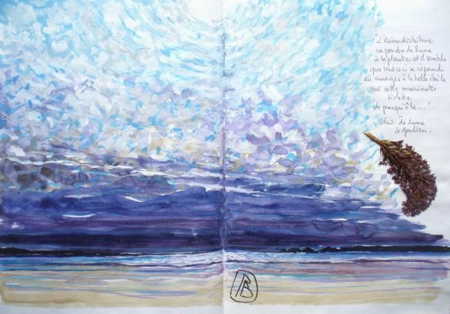"Philippe Brobeck - ""L' océan distribue sa poudre de lune..."""
