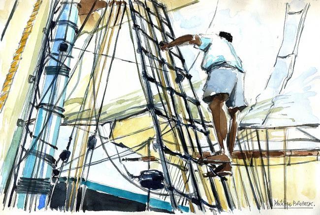 """Philippe Brobeck - """"sur les haubans"""""""
