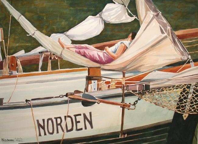"Philippe Brobeck - ""la sièste voilier Norden Fécamp"""