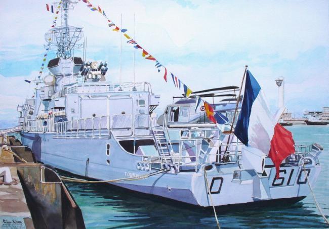 """Philippe Brobeck - """"la frégate Tourville au Havre"""""""