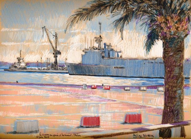 "Philippe Brobeck - ""le Siroco à quai Toulon"""