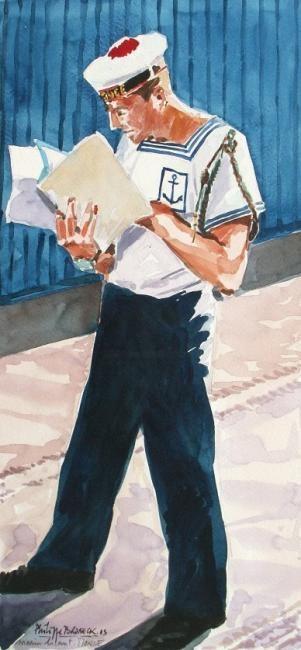 "Philippe Brobeck - ""marin du Monge lisant """