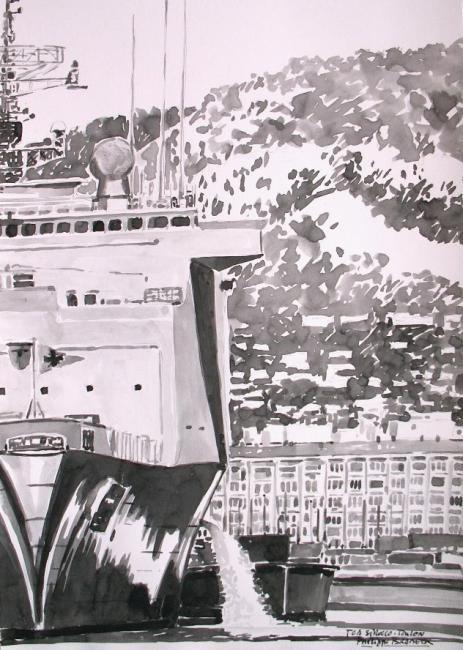 """Philippe Brobeck - """"étude pour le Siroco Toulon"""""""