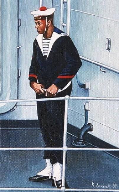 """Philippe Brobeck - """"le matelot noir frégate Tourville le Havre"""""""