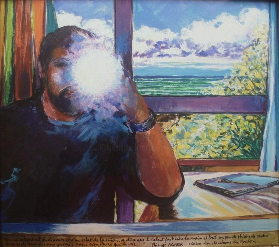 Philippe Brobeck - Autoportrait à l eclat de lumiere crozon