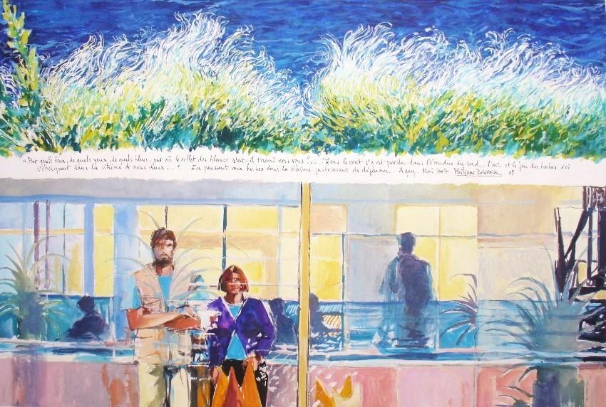 Philippe Brobeck - Autoportrait dans la vitre et aux fines herbes