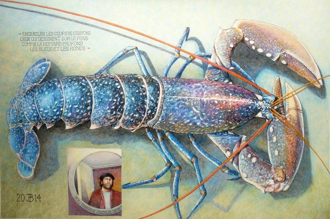 Philippe Brobeck - Autoportrait au homard bleu