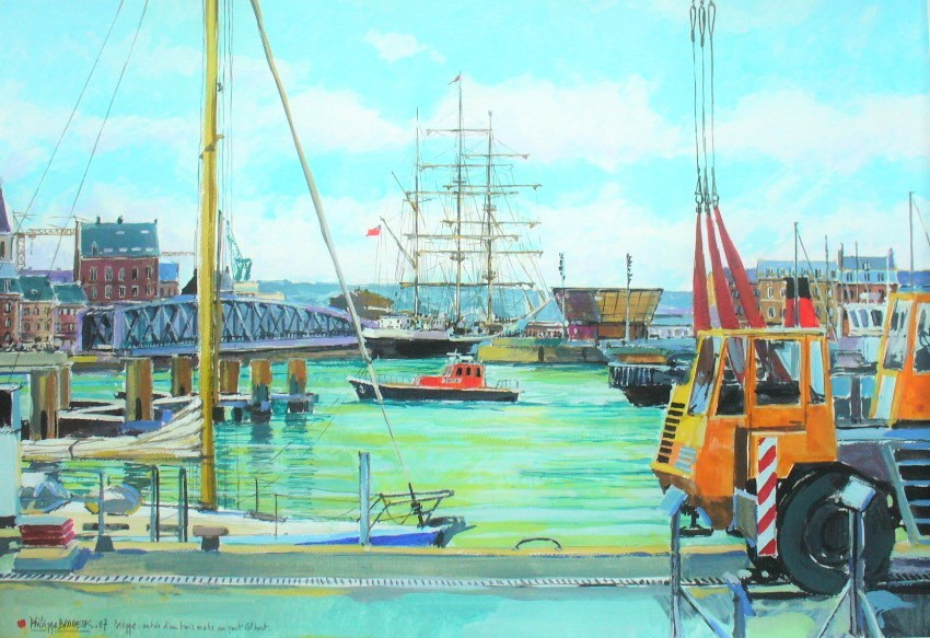 Philippe Brobeck - trois mâts au pont Colbert