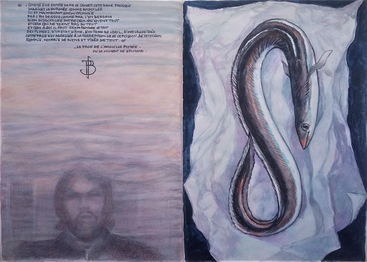 """Philippe Brobeck - """" La page de l'anguille fumée moment de sfumato"""""""