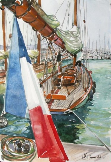voilier à quai régates royales Cannes