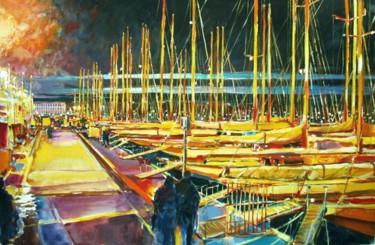 le soir voiliers à quai régates royales Cannes