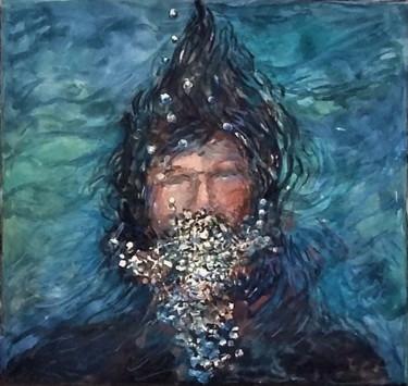 Autoportrait soupesé et avec des bulles