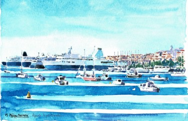 """Ajaccio le port aquarelle"""