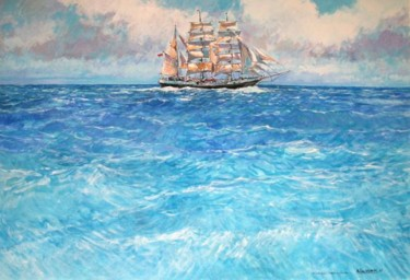 le trois mats Tenacious à la mer