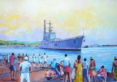 l'arrivée du croiseur de Grasse à Papeete en 1971