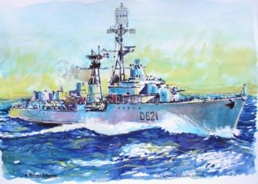 l'escorteur d'escadre Surcouf à la mer