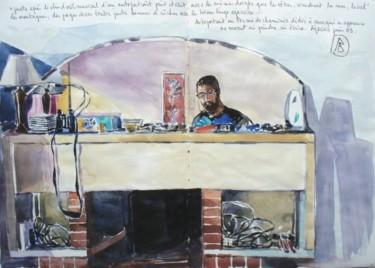 Autoportrait dans la glace de la cheminée chez Damien Ajaccio