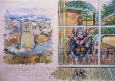 Autoportrait à la borne et à la croix Crozon le Goulien