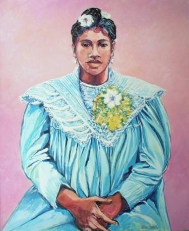 """""""tahitienne à la robe de prière bleue"""""""