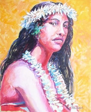 """""""Tahitienne au collier de fleurs"""""""