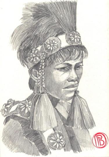 """Jeune Tahitien en costume de fête"""
