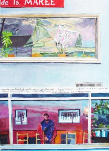Autoportrait dans la vitrine du bar de la marée Dieppe