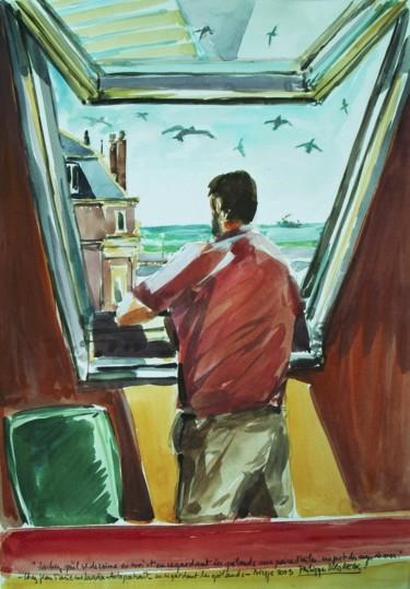 autoportrait à regarder les goelands Dieppe