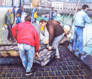 l'arrivée de la pêche au quai du Carénage