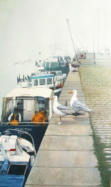 les goélands au quai du Carénage