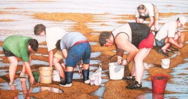 les ramasseurs de moules à Puy