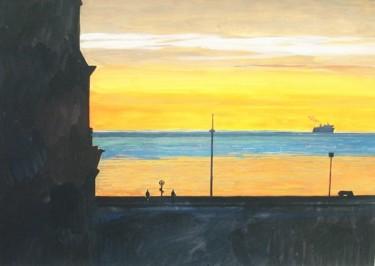 Ferry au couchant Dieppe