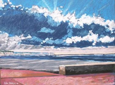 effet de ciel sur la plage de Dieppe