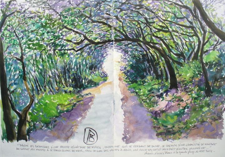 "Philippe Brobeck - "" Arbres sur le chemin blanc """