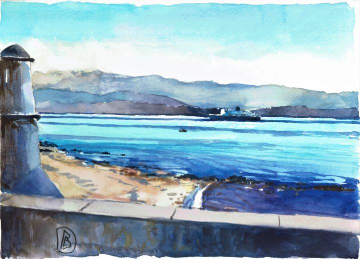 """Philippe Brobeck - """"Ferry à l'entrée d'Ajaccio"""""""