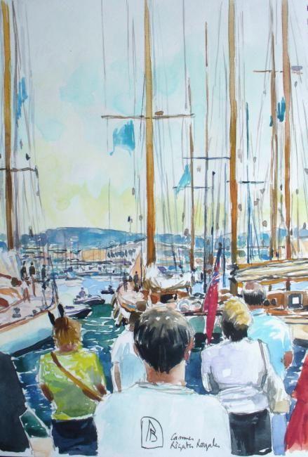 Philippe Brobeck - régates royales Cannes sur le quai